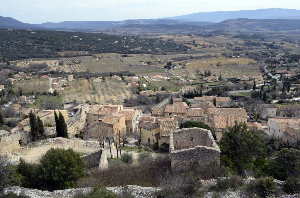 View from Saint Saturnin les Apt