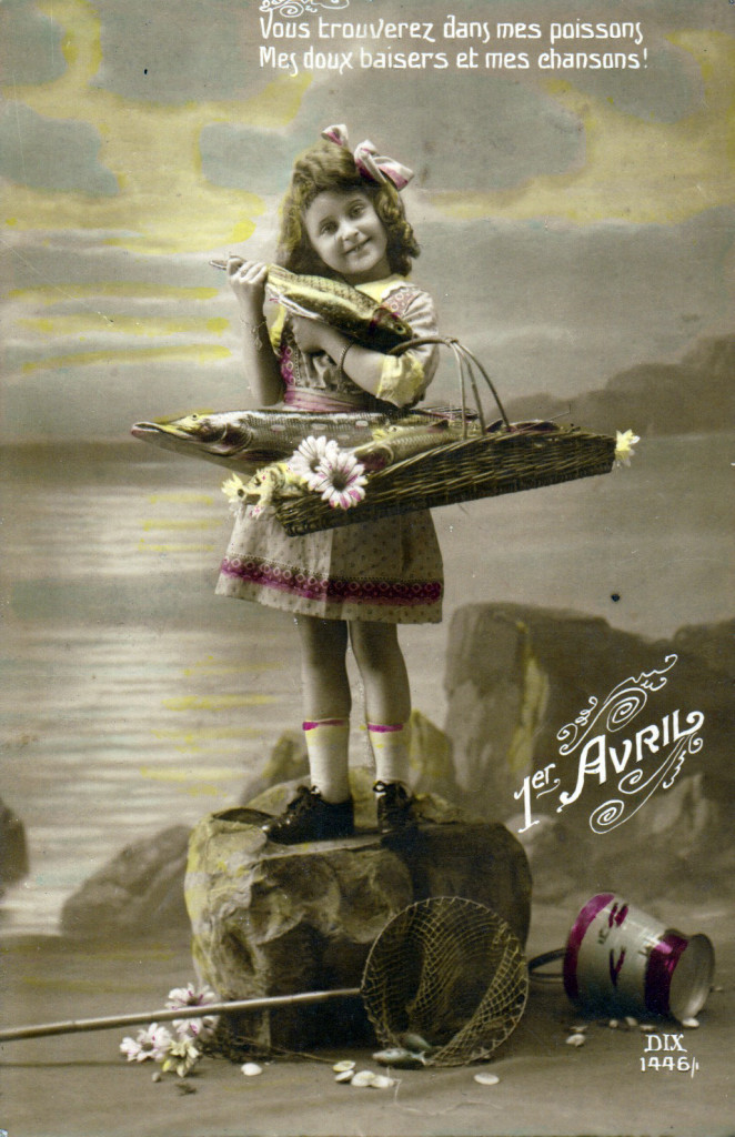 Poisson d'Avril Carte Postale