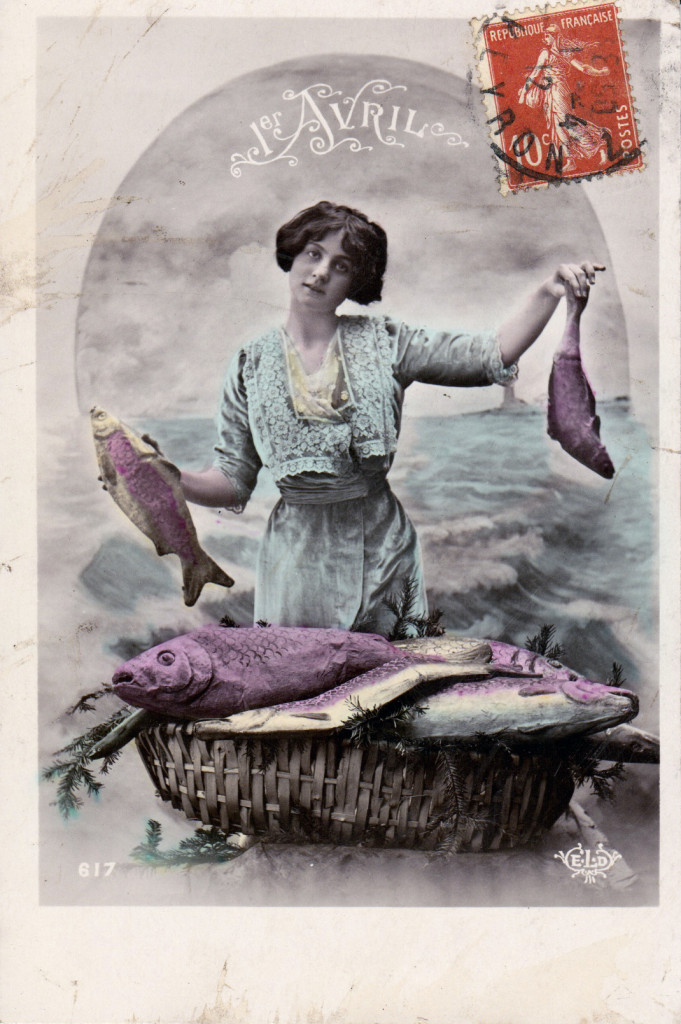 Poisson d'Avril Cartes Postale