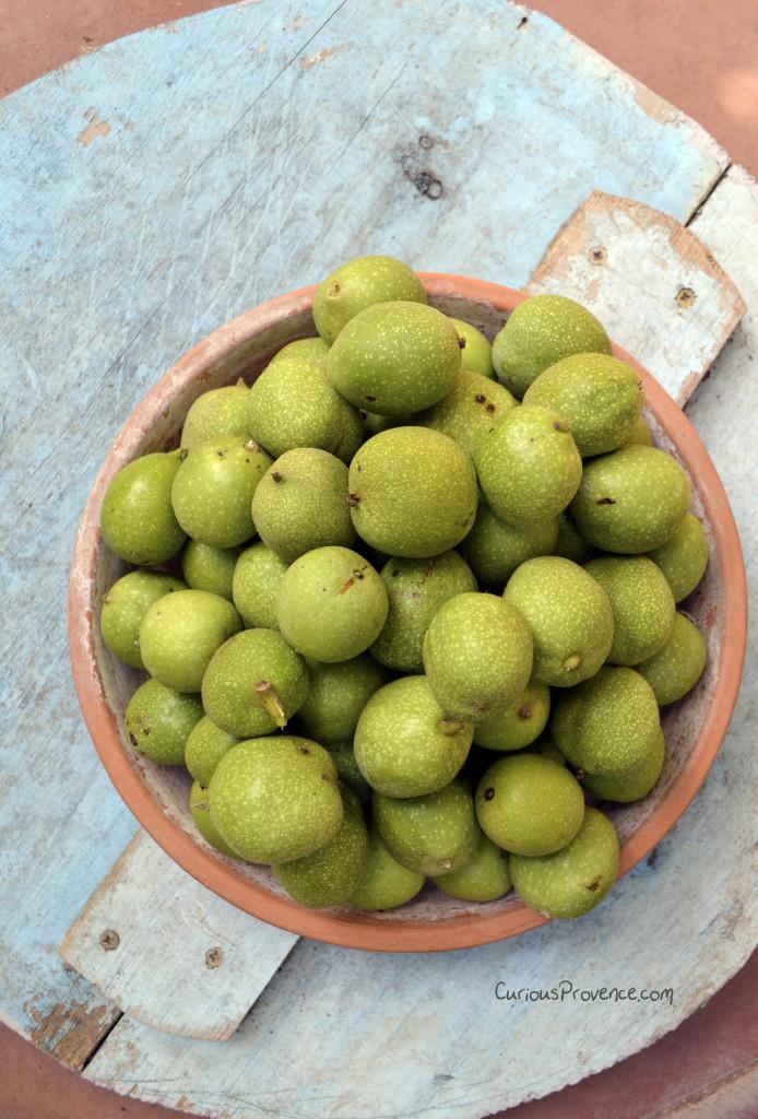 green walnuts provence
