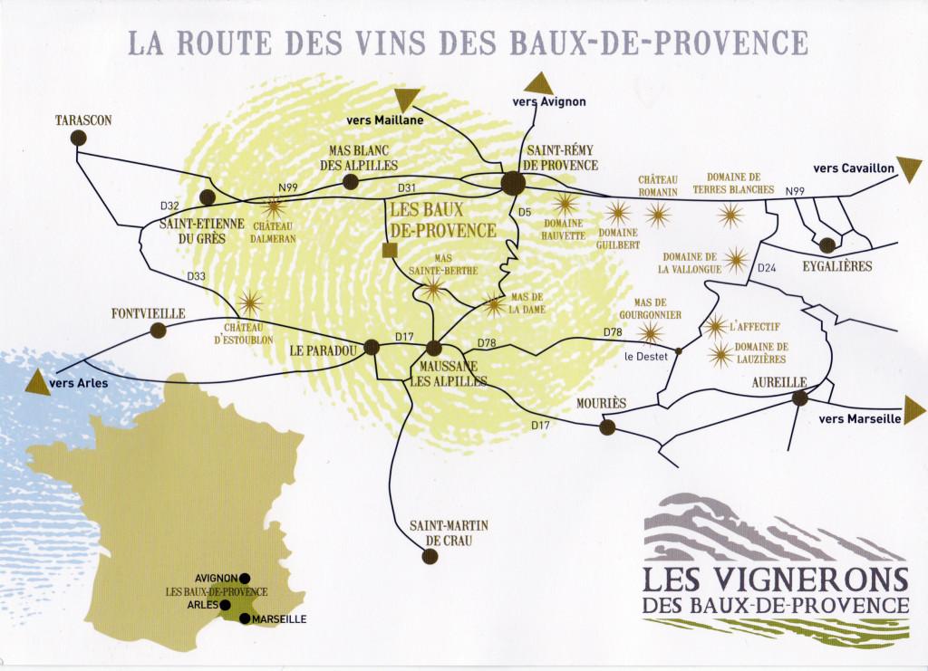 route des vins les baux de provence