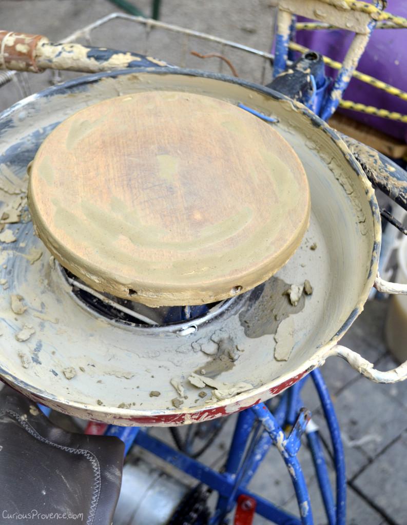 pottery wheel on bike provence