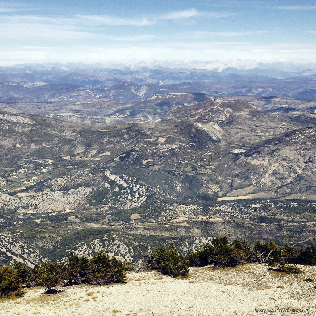 view from mont ventoux provence