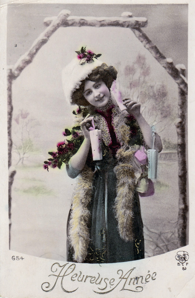 vintage new years postcards