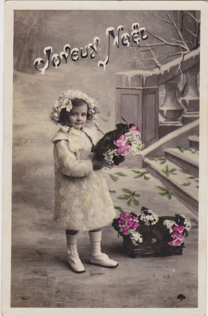 vintage merry christmas postcard