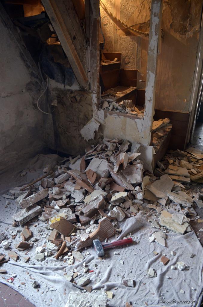 renovation rubble provence farmhouse