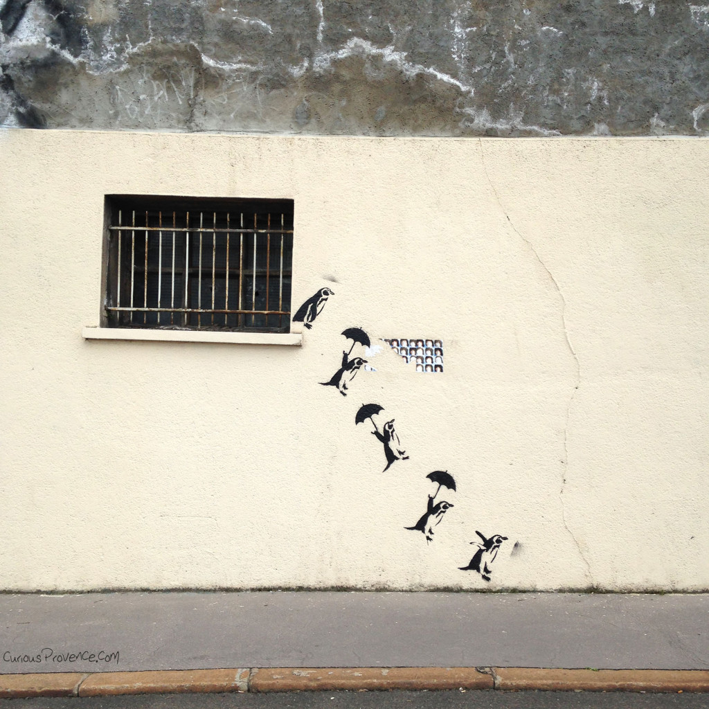 penguins street art