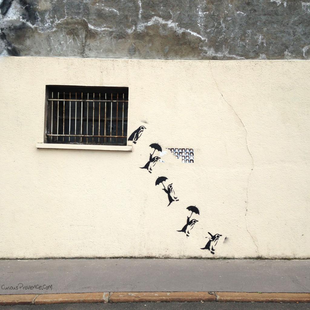 penguins street art