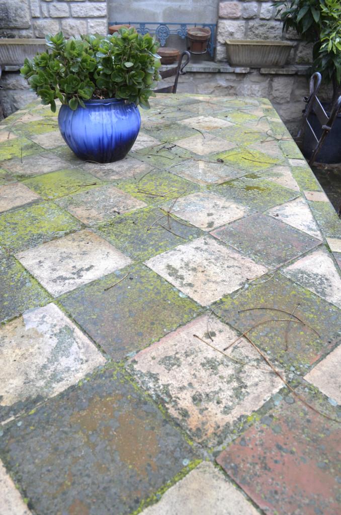 mossy tiles