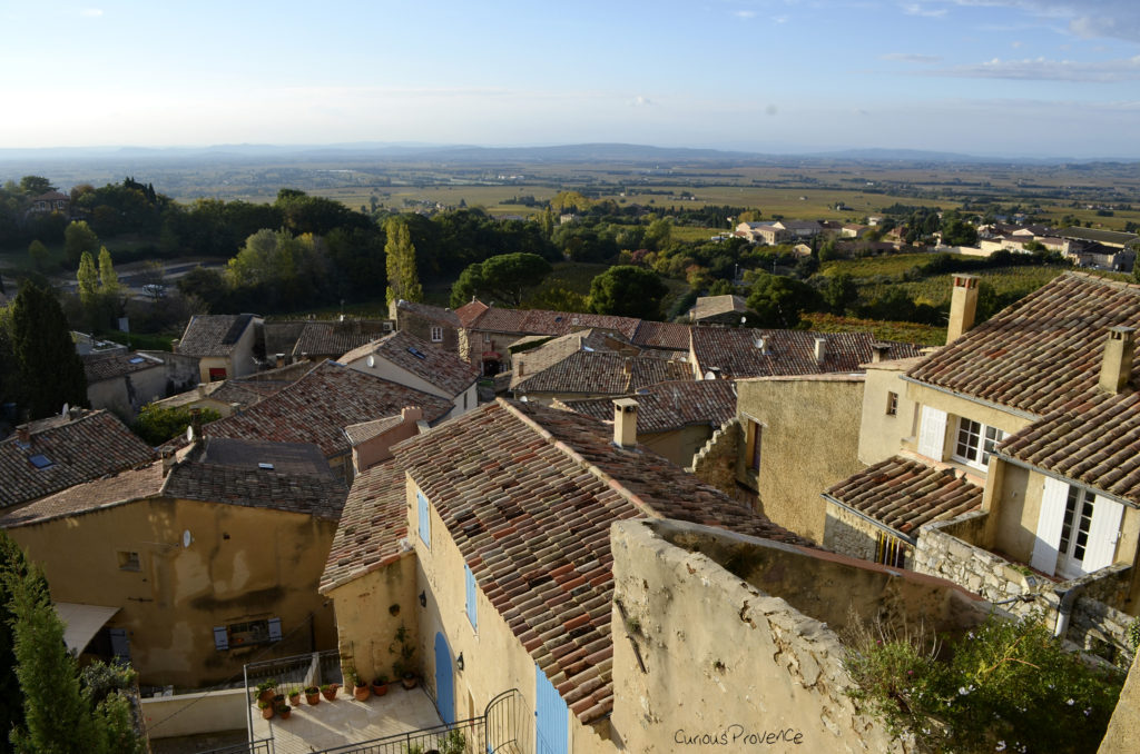 View from the town of Gigondas. Not only is the wine good- so is the scenery!