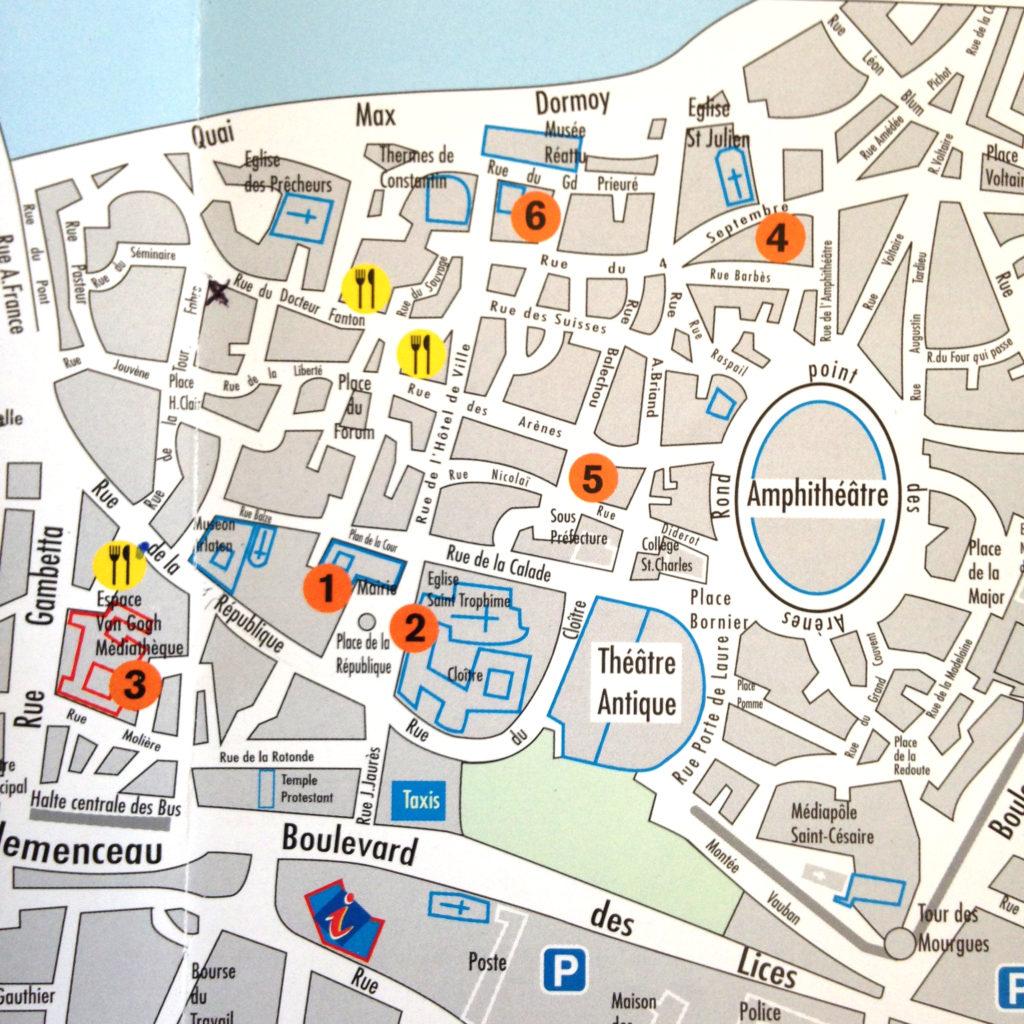 map of arles provence