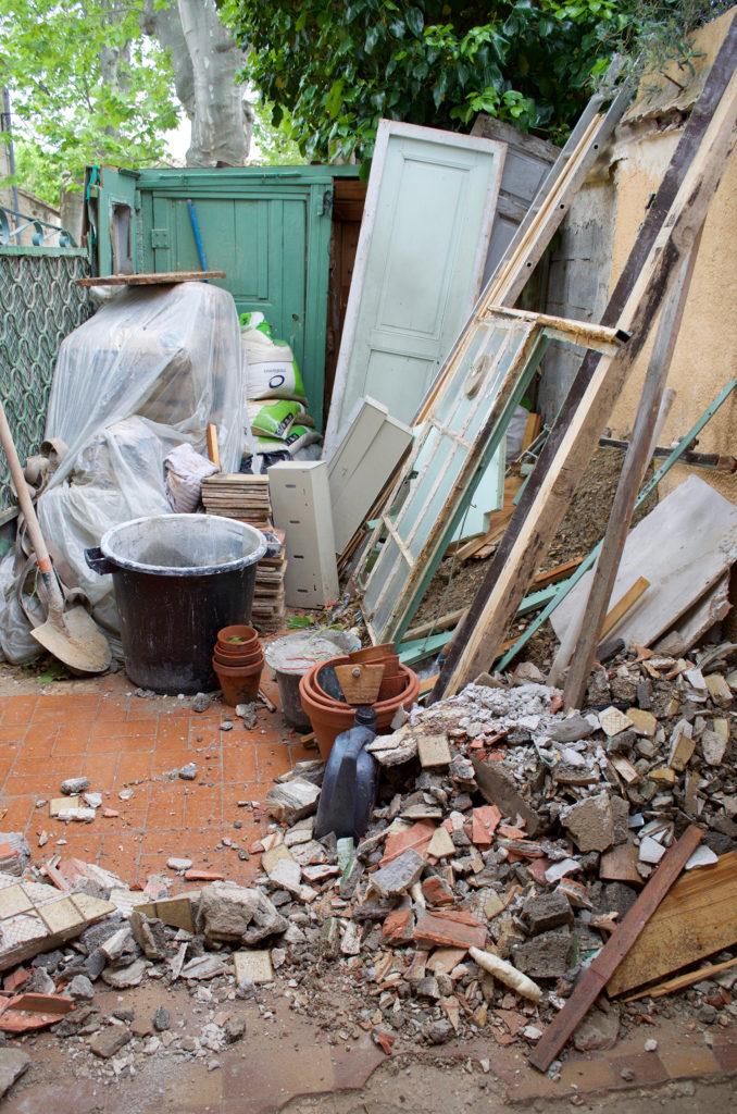 renovation debris