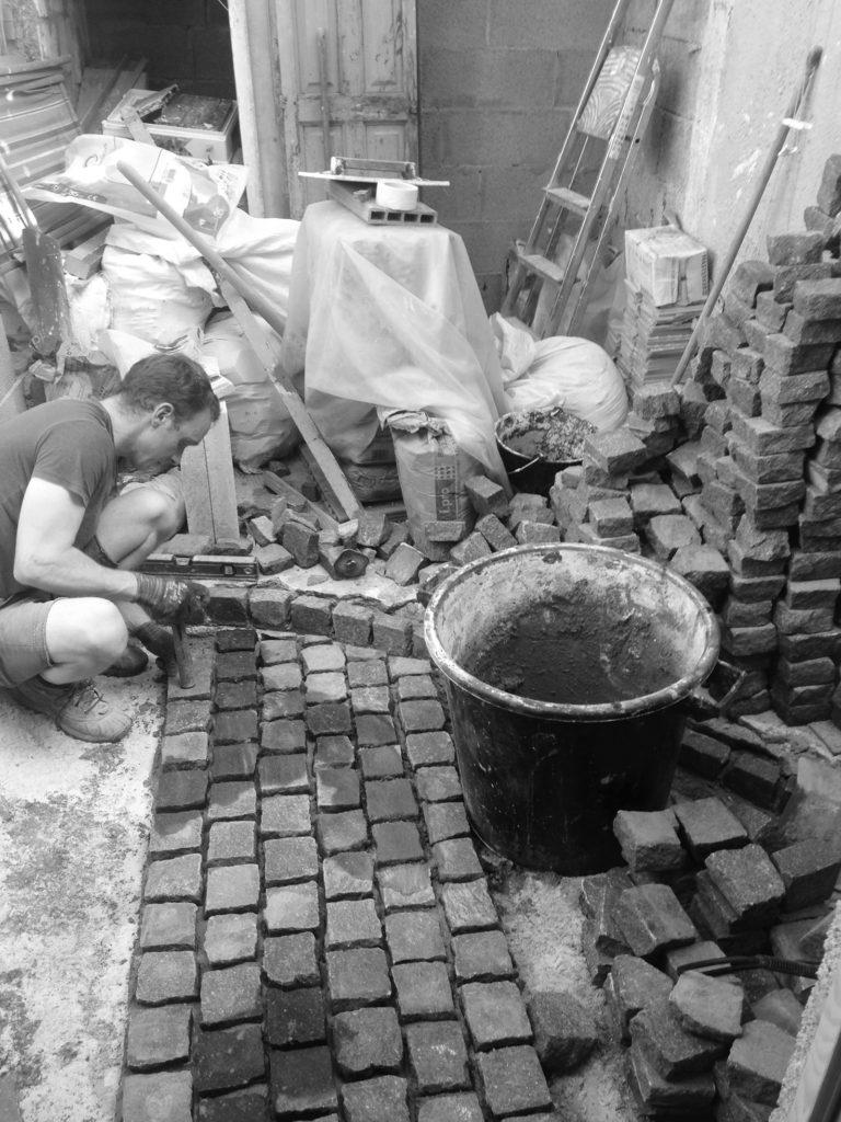 pave stones
