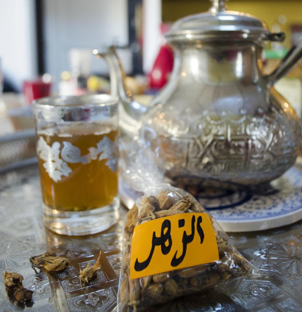 moroccan tea with fleur d'oranger