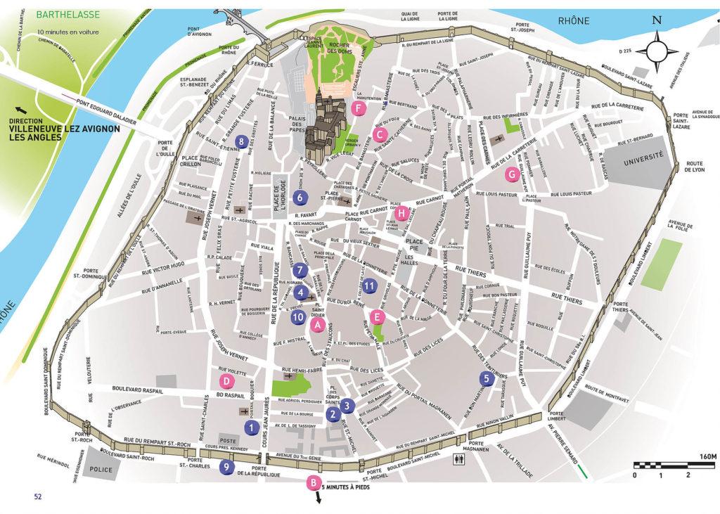 map artists avignon