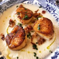 scallops with cauliflower purée curiousprovence