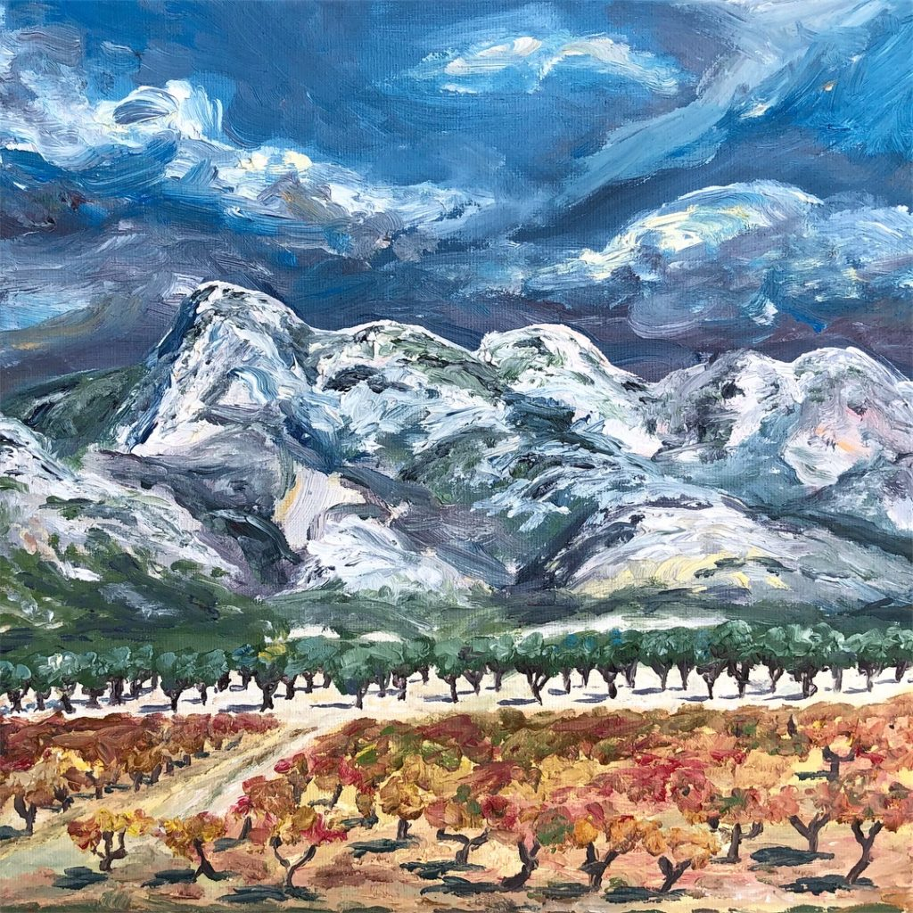 Alpilles Painting Curious Provence Ashley Tinker