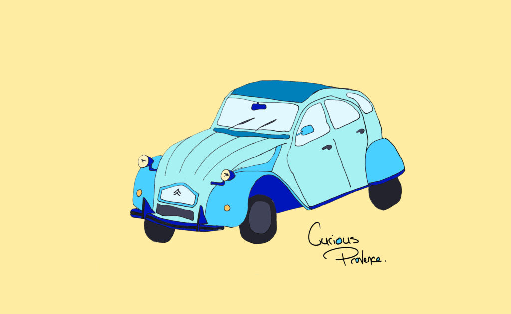 La Citroën 2 CV curiousprovence stickers