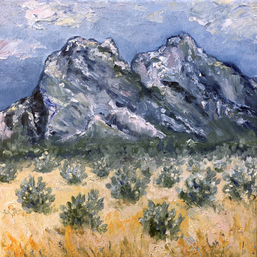 alpilles eygalieres oil painting